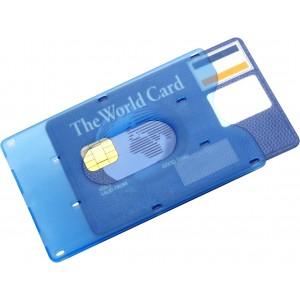 Műanyag bankkártyatartó